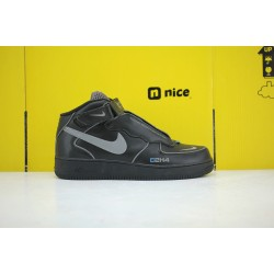 C2H4 x Nike Air Force 1 '07 MID Black Unisex Sneakers 315123-001
