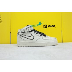 Nike Air Force 1 '07 LV8 3M Grey Black Unisex Sneakers Mid AA1118-011