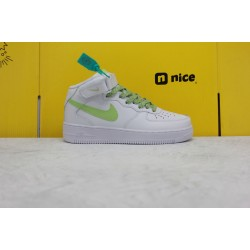 Nike Air Force 1 '07 MID Womens Sneakers White Green 366731-909