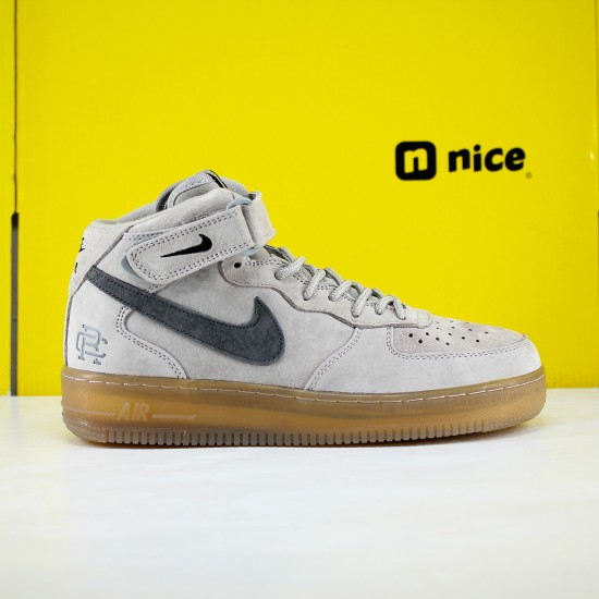 Nike Air Force 1 Mid Grey Black 807618-208 Unisex Running Shoes