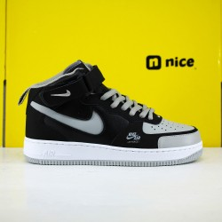 Nike Air Force 1 Mid Grey Black BQ6819-008 Unisex Running Shoes