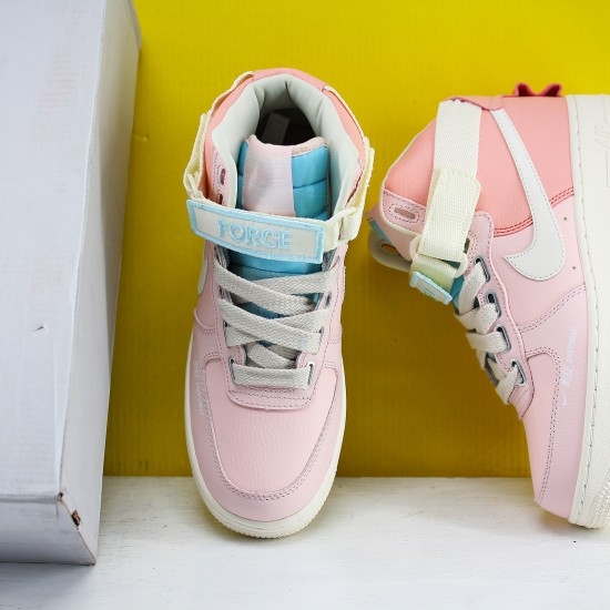 Nike Air Force 1 Mid Pink Beige CQ4810-621 Womens Running Shoes