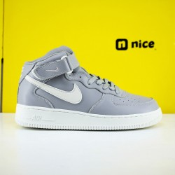 Nike Air Force 1 Mid Silver Beige 215123 033 Unisex Running Shoes