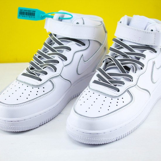 Nike Air Force 1 Mid White Black 369733 809 Unisex Running Shoes
