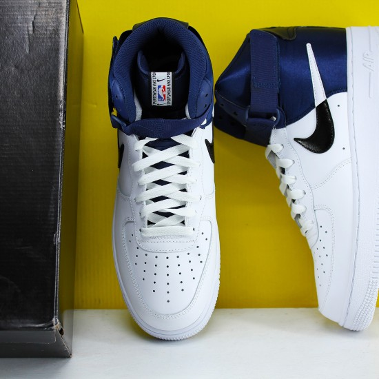 Nike Air Force 1 Mid White Blue BQ4591-400 Unisex Running Shoes