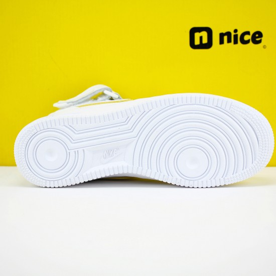 Nike Air Force 1 Mid White Gold AO2132-109 Unisex AF1 Running Shoes