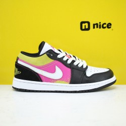 Air Jordan 1 Low Black Active Fuchsia Cyber CW5564-001 AJ1 Unisex Jordan Sneakers