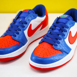Air Jordan 1 Low Blue White Red CW0858 200 AJ1 Unisex Jordan Sneakers