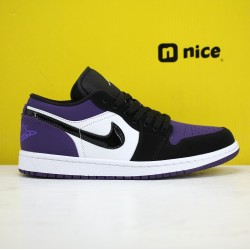 Air Jordan 1 Low Court Purple CD7069-200 AJ1 Unisex Jordan Sneakers