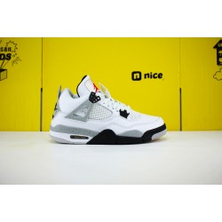 Air Jordan 4 Retro White Cement 840606-192 AJ4 Unisex Jordan Sneakers