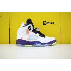 Nike Air Jordan 5 Alternate Bel-Air Mens Basketball Shoes White Blue DB3335-100