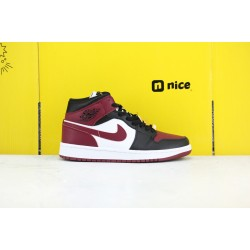 Nike Air Jordan 1 Mid 35 Anniversary Unisex Basketball Shoes White Red Black CZ4385 016
