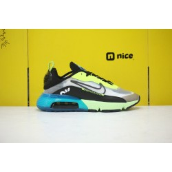 Nike Air Max 2090 Unisex Running Shoes Grey Green Black CN7664 700