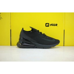 Nike Air Max 270 Flyknit Mens Running Shoes Black AO1023-005