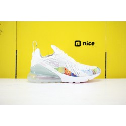 Nike Air Max 270 Flyknit Unisex Running Shoes White AT6819-100
