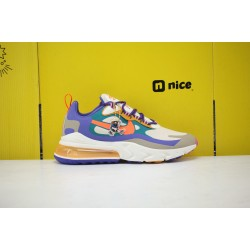 Nike Air Max 270 React Mens Sneakers Beige Blue Orange CU3014 181