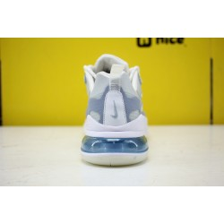 Nike Air Max 270 React Unisex Sneakers White Grey Blue CT1265 300