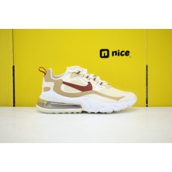 Nike Air Max 270 React Womens Sneakers Beige Red White AT6174-700