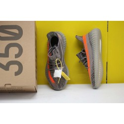 "Adidas Yeezy 350 Boost V2 ""Beluga"" Orange/Grey Running Shoes Unisex Sneakers BB1826"