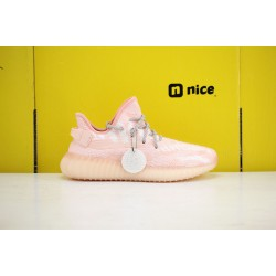 "Adidas Yeezy 350 v3 ""Pink/Cloud White"" Running Shoes WMNS FC9217 Sneakers"