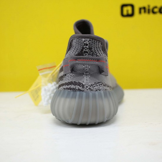 "Adidas Yeezy Boost 350 V2 ""Beluga 2.0"" Grey/Bold Orange/Dark Grey Running Shoes Unisex Sneakers AH2203"