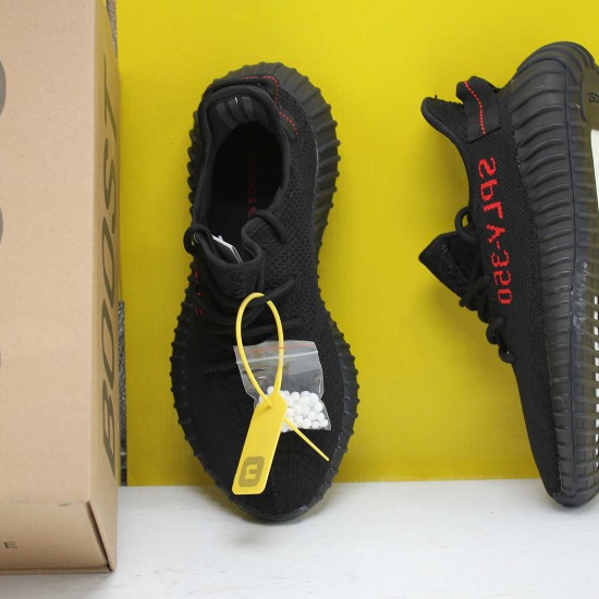 """Adidas Yeezy Boost 350 V2 """"Black/Red"""" Core Black/Red Running Shoes Unisex Sneakers CP9652"""