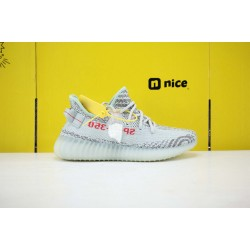 "Adidas Yeezy Boost 350 V2 ""Blue/Tint"" Grey Three/High Resolution Red Running Shoes Unisex Sneakers B37571"