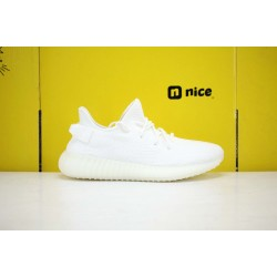 """Adidas Yeezy Boost 350 V2 """"Cream/Triple White"""" White Running Shoes CP9366 Unisex Sneakers"""