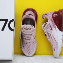 "Nike Air Max 270 ""Barely Rose"" Barely Rose/Vintage Wine-Elemental Rose AH6789-601 Womens Running Shoes"