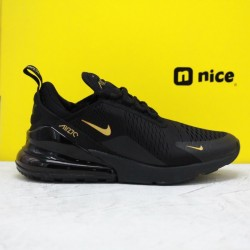Nike Air Max 270 Black Gold AH8050 007 Mens Running Shoes
