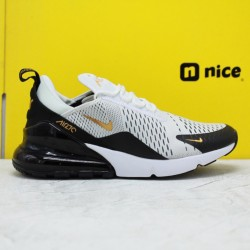 Nike Air Max 270 Black Gold Gray AH7892 100 Mens Running Shoes