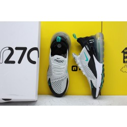 Nike Air Max 270 Gray/Black/White Running Shoes AH8050 001 Mens Sneakers
