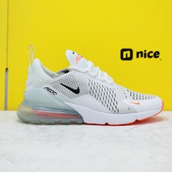 "Nike Air Max 270 ""White Black Total Orange"" AH8050 106 Mens Running Shoes"