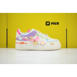Nike Air Force 1 Shadow White/Pink/Purple Running Shoes CU3012-164 AF1 WMNS Sneakers