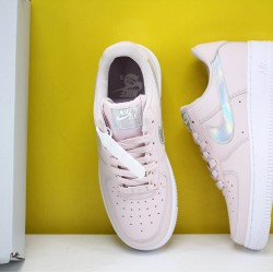 "Nike WMNS Air Force 1 Low ""Pink Iridescent"" Barely Rose/Barely Rose-White Running Shoes CJ1646 600 AF1 Sneakers"