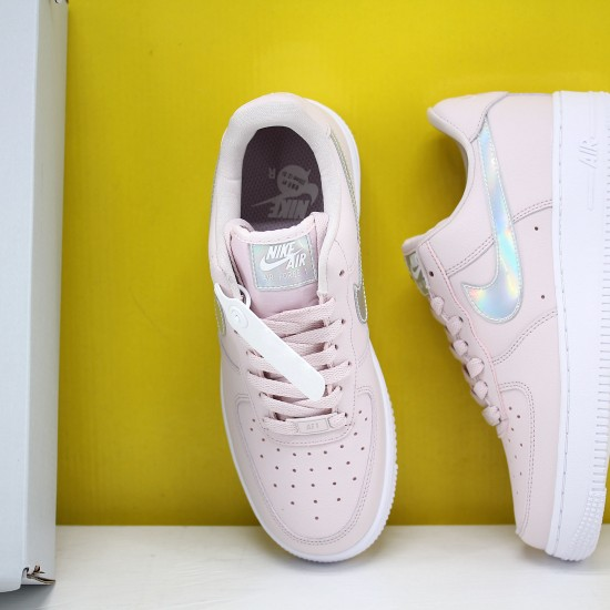 """Nike WMNS Air Force 1 Low """"Pink Iridescent"""" Barely Rose/Barely Rose-White Running Shoes CJ1646 600 AF1 Sneakers"""