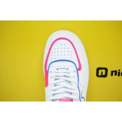"Nike WMNS Air Force 1 Shadow ""Cotton Candy"" White/White-White-Hyper Pink Running Shoes CU3012 111 Womens Sneakers"