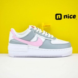 "Nike WMNS Air Force 1 Shadow ""Photon Dust Pink Foam"" Running Shoes CZ0370 100 Womens Sneakers"