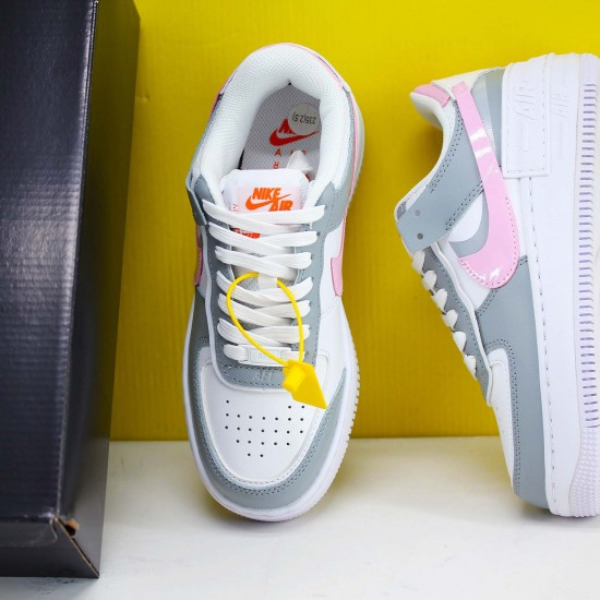 """Nike WMNS Air Force 1 Shadow """"Photon Dust Pink Foam"""" Running Shoes CZ0370 100 Womens Sneakers"""