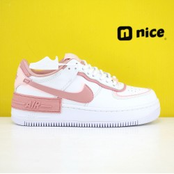 Nike WMNS Air Force 1 Shadow Pink/White Running Shoes AF1 Sneakers CJ1641 101
