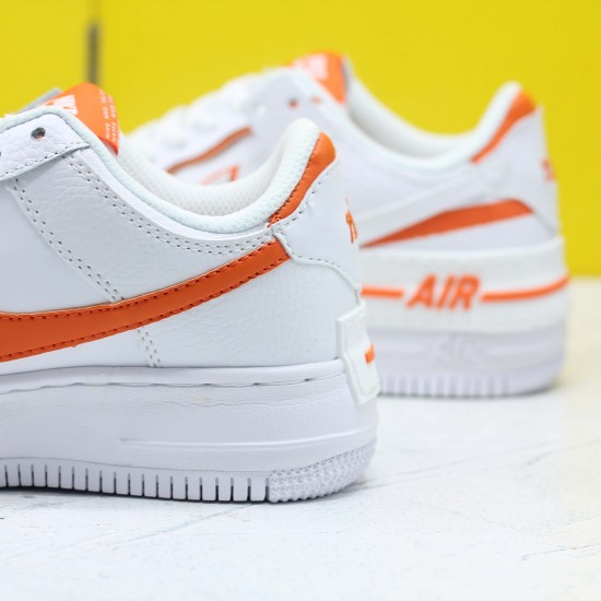 """Nike WMNS Air Force 1 Shadow """"Total Orange"""" White/Summit White-Total Orange Running Shoes CI0919 103 Womens Sneakers"""