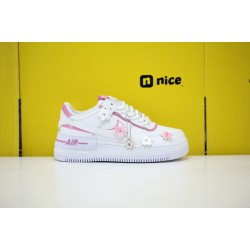 "Nike WMNS Air Force 1 Shadow ""White Magic Flamingo"" White/White-Magic Flamingo-White Running Shoes CI0919 102 Sneakers"