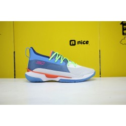 Under Armour Curry 7 Gray/Blue Basketball Shoes 3021258 404 Mens Curry 7 Sneakers