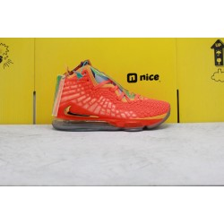 "Nike LeBron 17 ""Future‎ Air"" Red/Yellow Basektball Shoes BQ3177 916 Mens Sneakers"