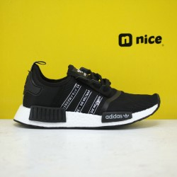 Adidas NMD R1 Primeknit Triple Black/White Running Shoes FX1033 Mens Sneakers
