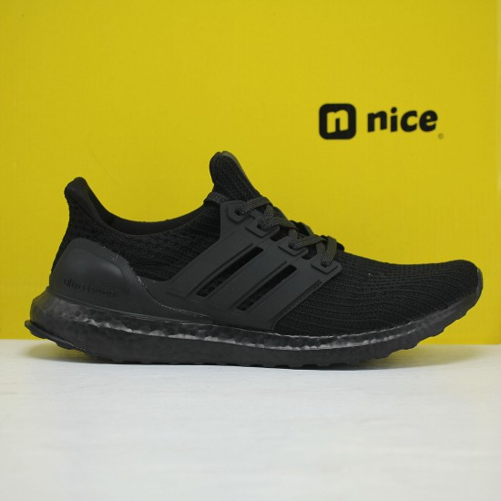 """Adidas Ultra Boost 4.0 All Black """"Primeknit 360"""" Running Shoes FV7280 Mens Sneakers"""