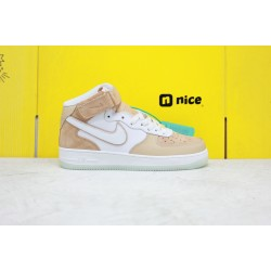 Nike Air Force 1 07 Mid Unisex Sneakers White Pink AO2425-201